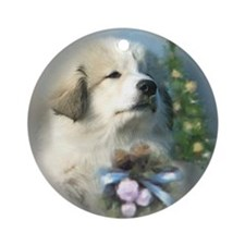 Great Pyrenees Ornament [rd] ChristmasPuppy