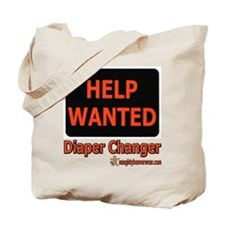 Help Wanted: Diaper Changer Tote Bag