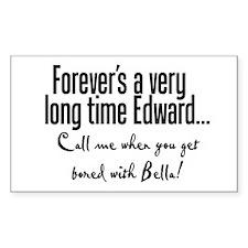 Twilight Edward Bored with Bella Decal