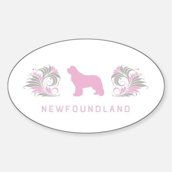 """""""Elegant"""" Newfoundland Oval Decal"""