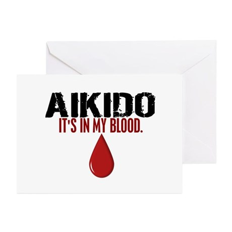 In My Blood (Aikido) Greeting Cards (Pk of 20)