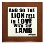Twilight Movie Quote Framed Tile