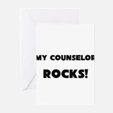 MY Counselor ROCKS! Greeting Cards (Pk of 10)