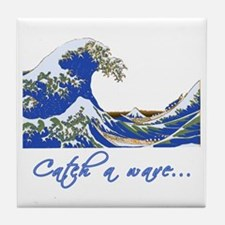 Catch a Wave Ocean Tile Coaster