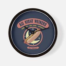 All Night Weiners Wall Clock