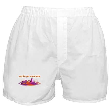 """""""City"""" Shetland Sheepdog Boxer Shorts"""