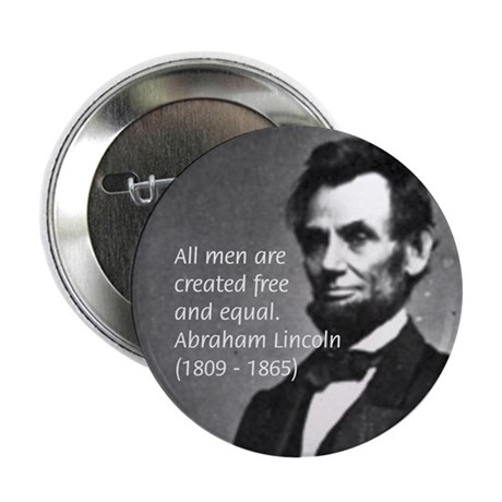 """Abraham Lincoln 2.25"""" Button (100 pack)"""