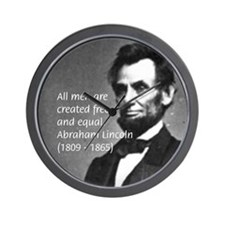 Abraham Lincoln Wall Clock