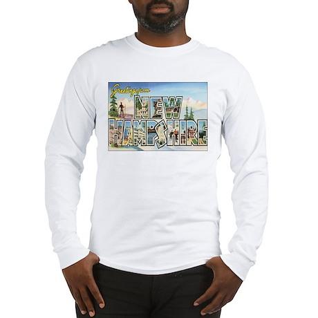 New Hampshire Postcart Long Sleeve T-Shirt