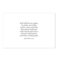 MATTHEW  26:47 Postcards (Package of 8)