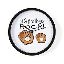 Big Brothers Rock Wall Clock