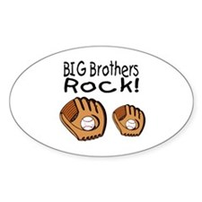 Big Brothers Rock Oval Bumper Stickers