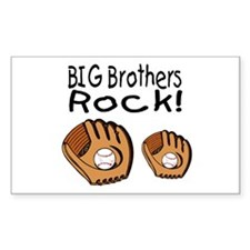 Big Brothers Rock Rectangle Bumper Stickers