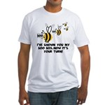 Funny slogan boo Bees Fitted T-Shirt