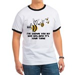 Funny slogan boo Bees Ringer T