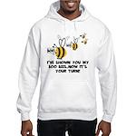 Funny slogan boo Bees Hooded Sweatshirt