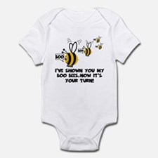 Funny slogan boo Bees Infant Bodysuit