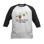 Funny slogan boo Bees Kids Baseball Jersey