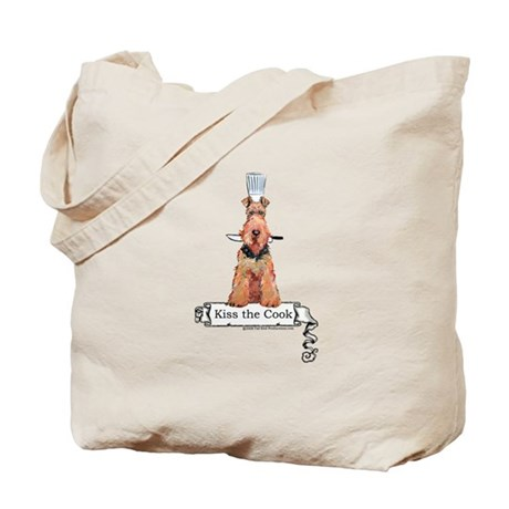 Airedale Terrier Chef Tote Bag