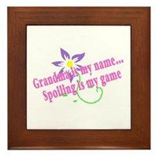 Grandma Is My Name, Spoiling Is My Game Framed Til