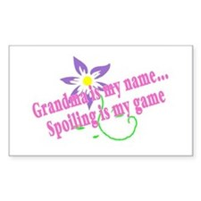 Grandma Is My Name, Spoiling Is My Game Bumper Stickers