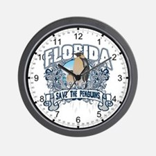 Save the Penguins Florida Wall Clock