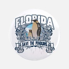"Save the Penguins Florida 3.5"" Button"