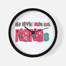 Old Hippie Nana Wall Clock