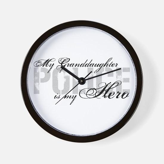 My Granddaughter is My Hero - POLICE Wall Clock