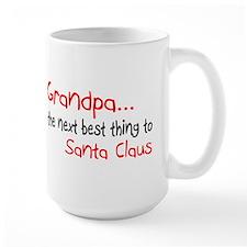 Grandpa, The Next Best Thing To Santa Claus Ceramic Mugs