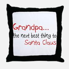 Grandpa, The Next Best Thing To Santa Claus Throw