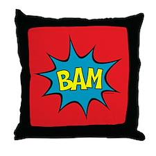 BAM! Throw Pillow