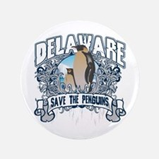 """Save the Penguins Delaware 3.5"""" Button"""