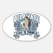 Save the Penguins Delaware Oval Decal