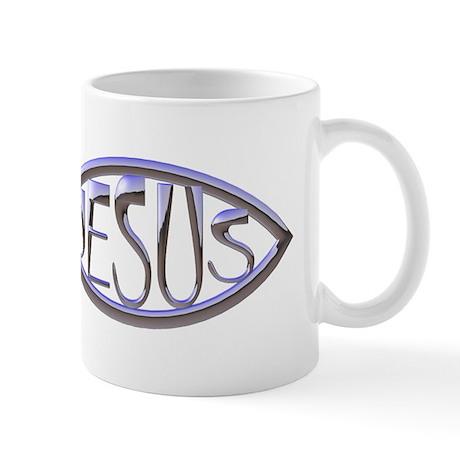 SILVER JESUS FISH Mug