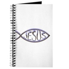 SILVER JESUS FISH Journal