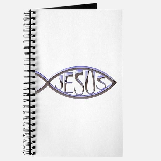 SILVER JESUS FISH Journal