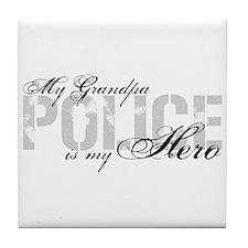 My Grandpa is My Hero - POLICE Tile Coaster