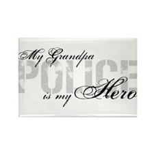 My Grandpa is My Hero - POLICE Rectangle Magnet