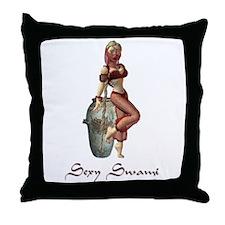 Sexy Swami Throw Pillow