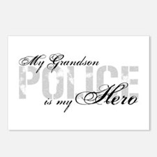 My Grandson is My Hero - POLICE Postcards (Package