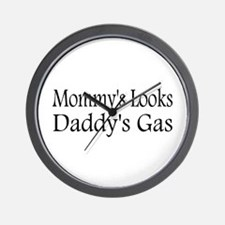 Mommys Looks, Daddys Gas Wall Clock