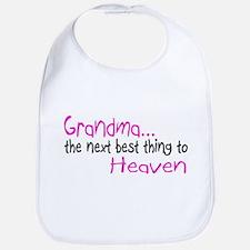 Grandma, The Next Best Thing To Heaven Bib