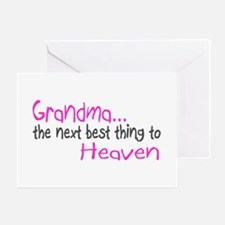 Grandma, The Next Best Thing To Heaven Greeting Ca