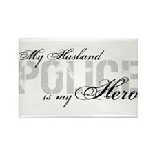 My Husband is My Hero - POLICE Rectangle Magnet