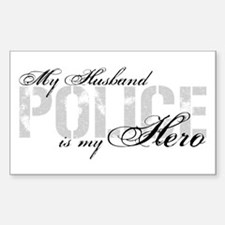 My Husband is My Hero - POLICE Rectangle Decal