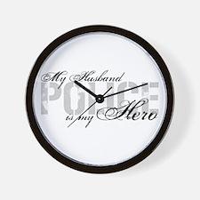 My Husband is My Hero - POLICE Wall Clock