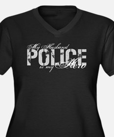 My Husband is My Hero - POLICE Women's Plus Size V