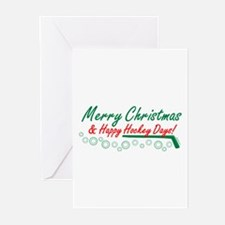 Christmas hockey days Greeting Cards (Pk of 20)