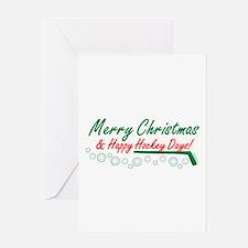 Christmas hockey days Greeting Card